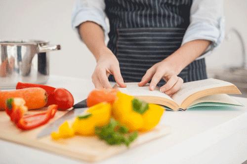 Chef preparing fresh veg